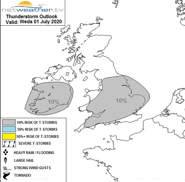 Thunderstorm risk UK
