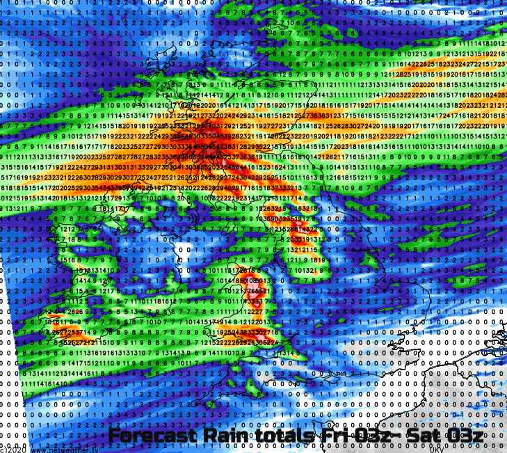 Heavy and persistent rain this weekend