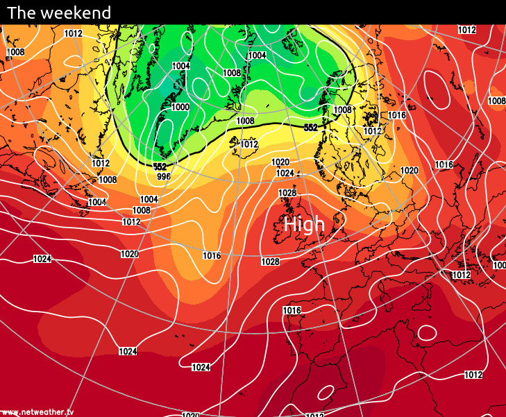 High pressure this weekend