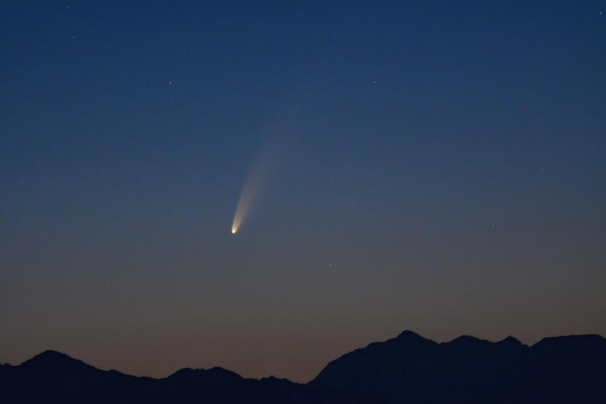 Comet Neowise getting closer and now visible after sunset, dependent on cloud cover