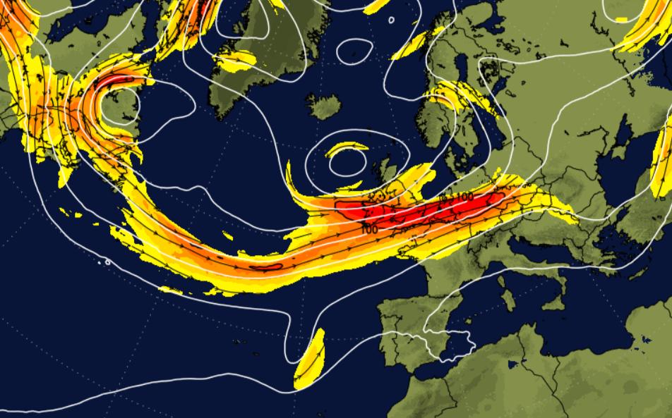 Atlantic jet stream powering up for the UK, while the Atlantic Hurricane Season wakes up too