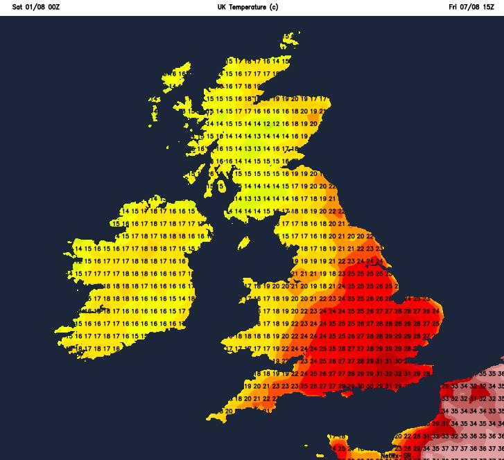 Turning hot again next Friday?