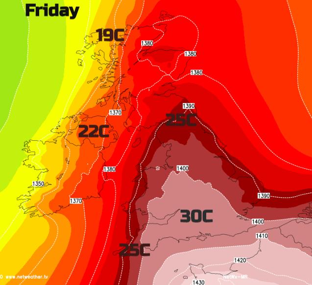 Friday heat UK