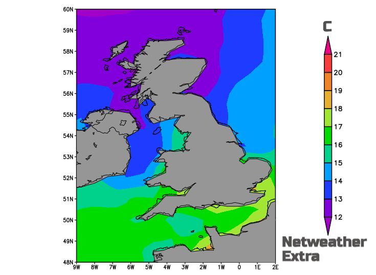 SST sea surface temps UK
