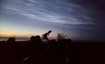 Bike ride weather -  End of July heat and sunshine, rain and breezes