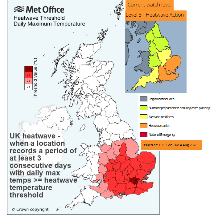 'Severe thunderstorms' could follow heatwave early next week, Met Office warns