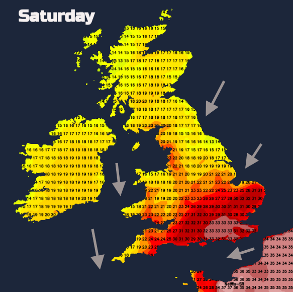 Hot weekend UK
