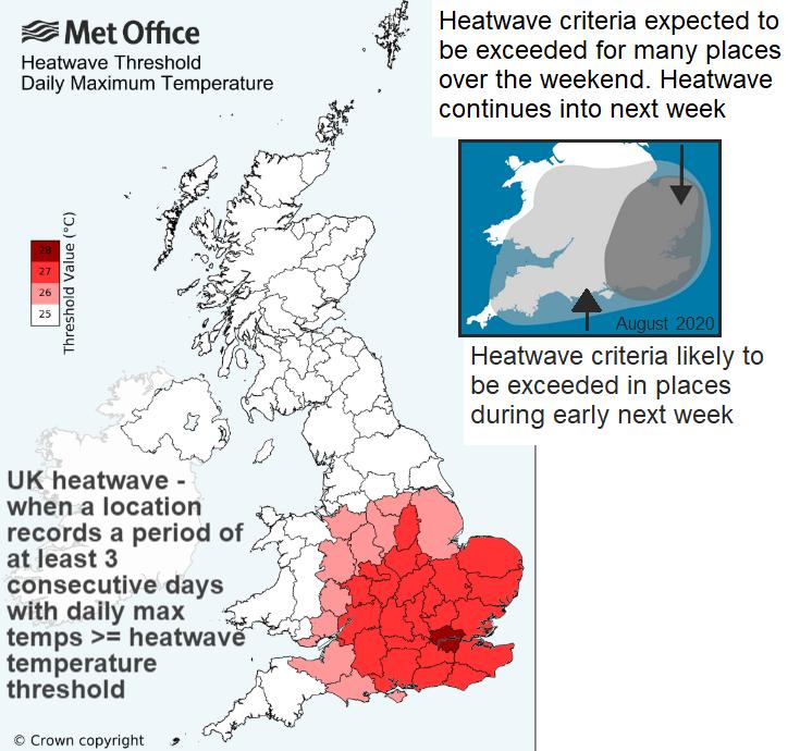 UK heatwave threshold