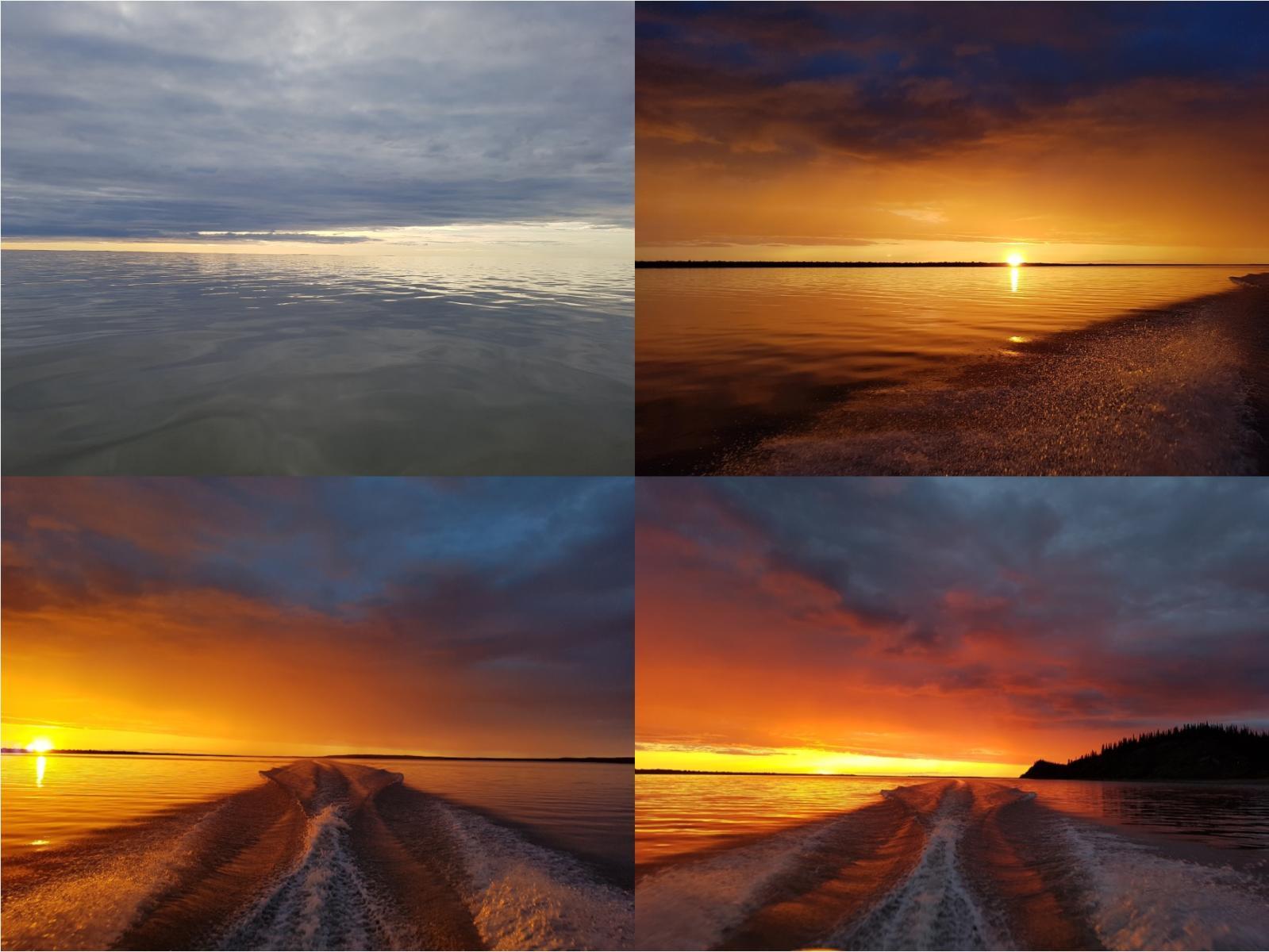 Sunset on the Mackenzie Delta