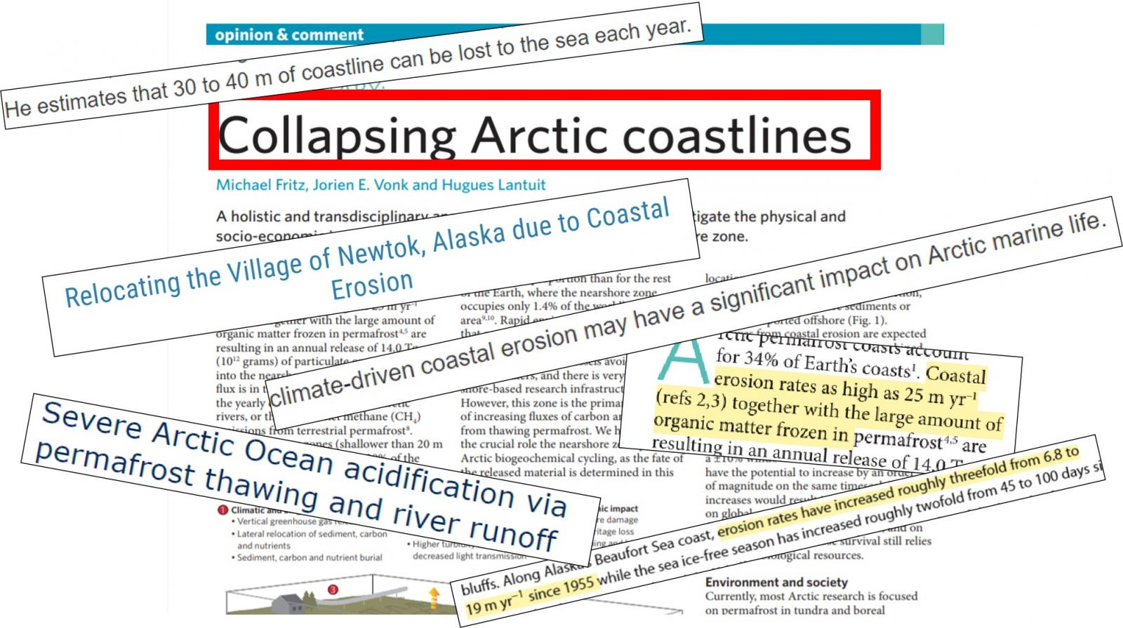 Dramatic headlines about collapsing Arctic Ice coastlines