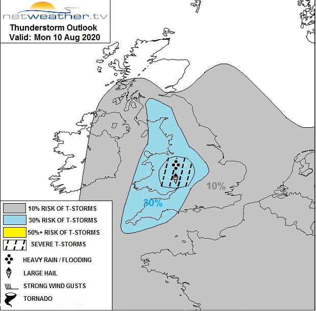 UK convective forecast thunderstorms