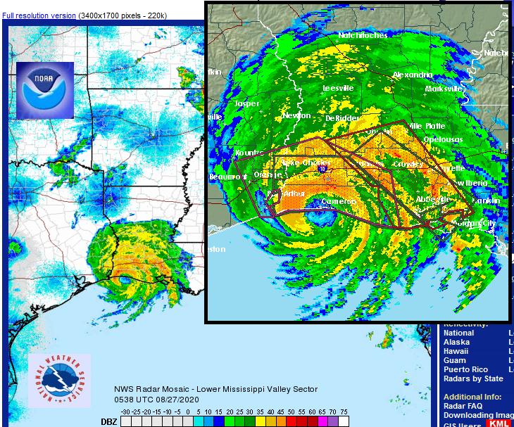 Hurricane Laura radar