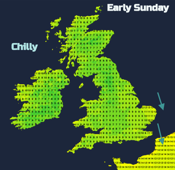 Bank holiday weather for camping chilly UK