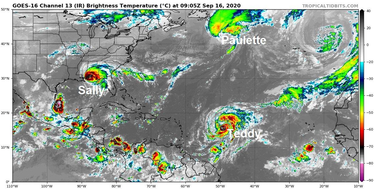 Three hurricanes & a medicane - stormy tropical Atlantic & Mediterranean