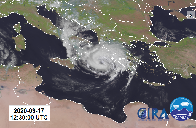 Unusual Mediterranean cyclone - Medicane Ianos, brings stormy weather to Greece