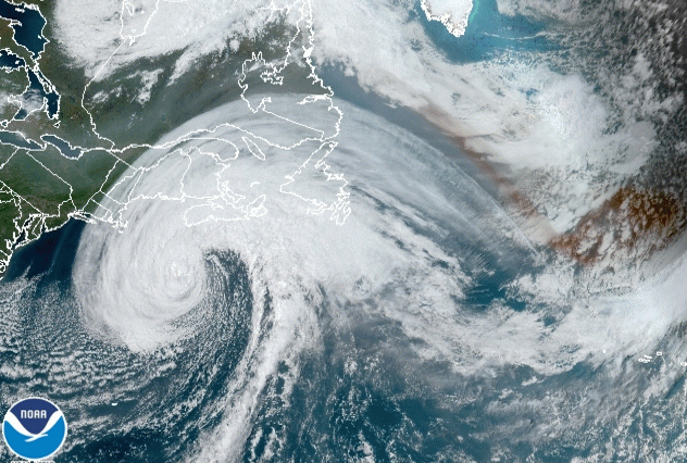 Hurricane Teddy and eastern Canada