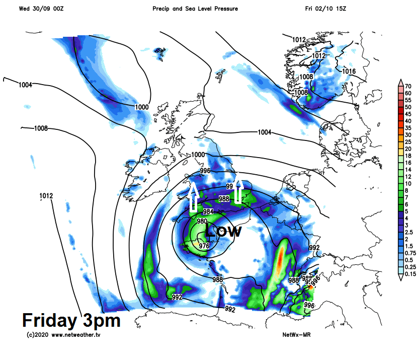 Low pressure on Friday