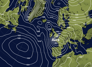 Storm Alex named by Meteo France but with heavy rain and gales for the UK