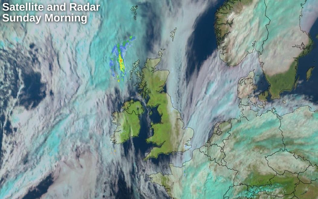 Satellite and Radar from 0930 Sunday morning