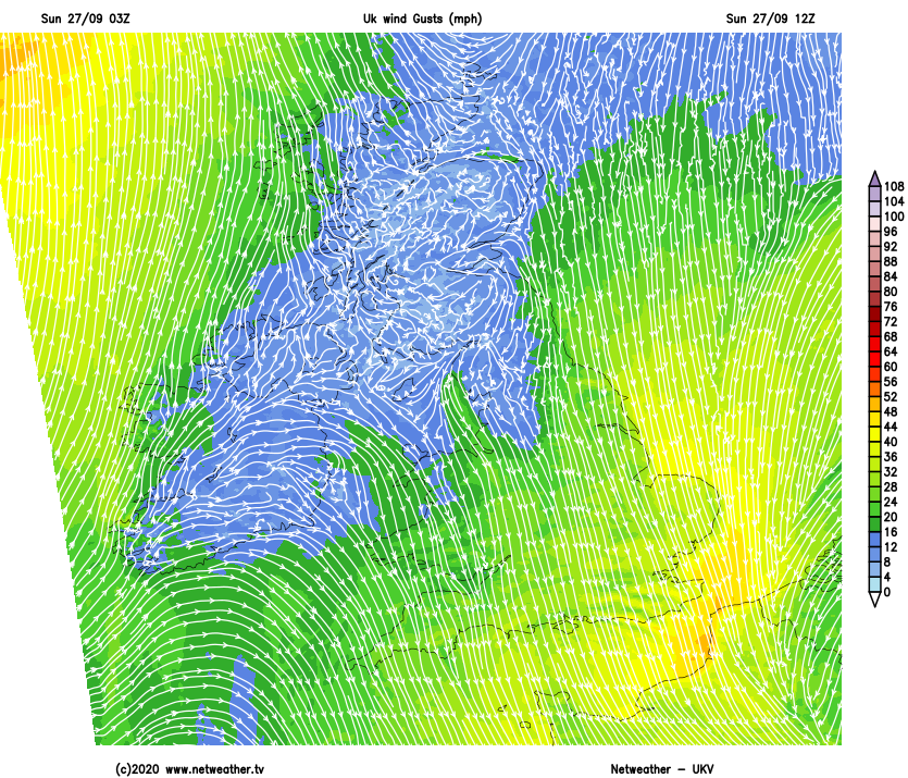 Still a nagging cold wind in the east and south today
