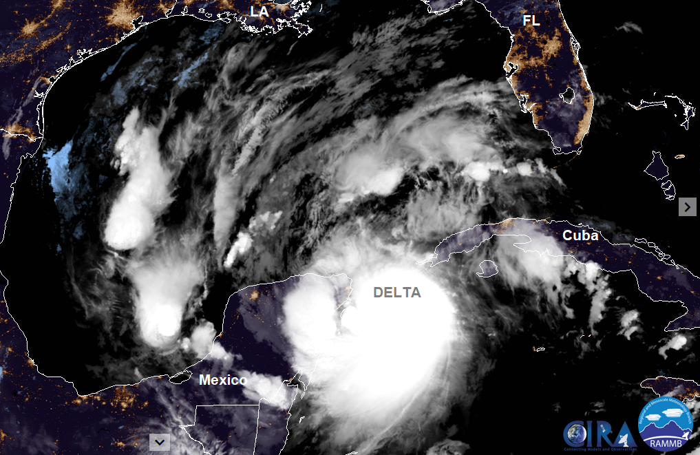 Hurricane DElta Mexico Yucatan