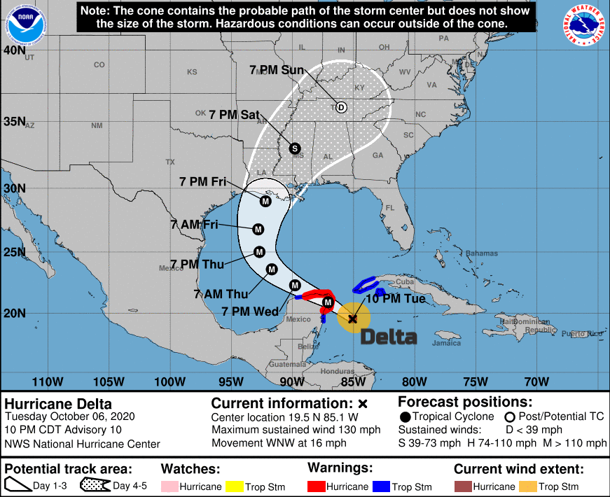 Hurricane Delta Cancun