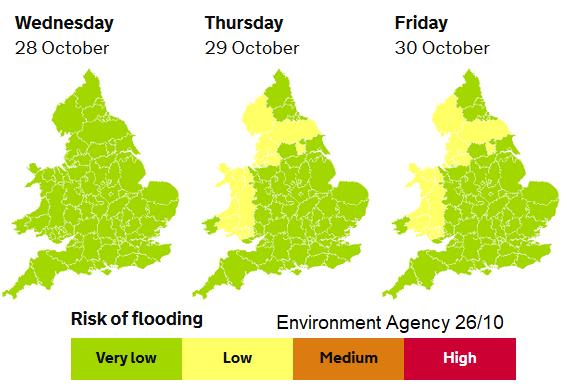 Flooding rain England Wales