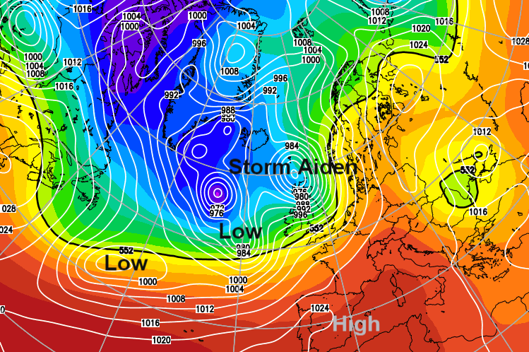 Storm Aiden - Weekend gales, rain and flooding