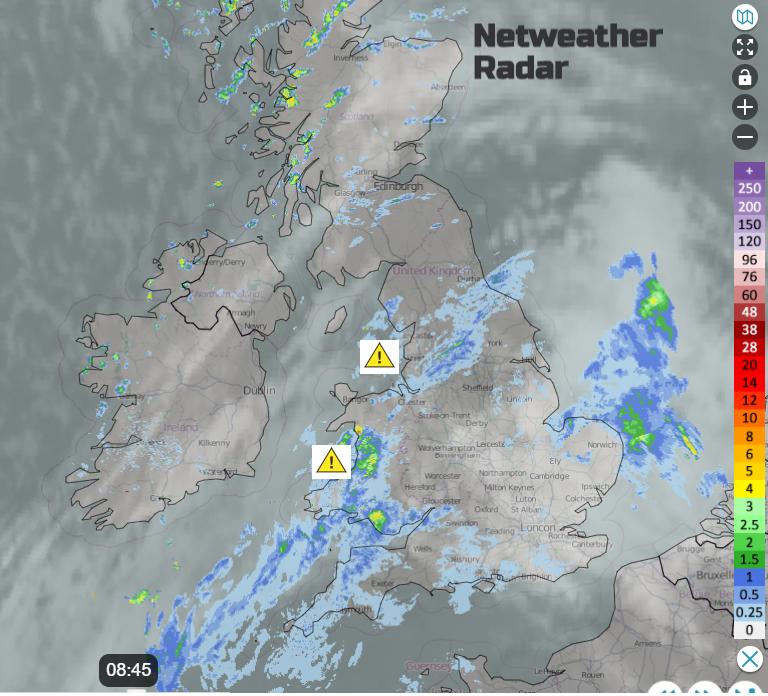 Rain radar UK