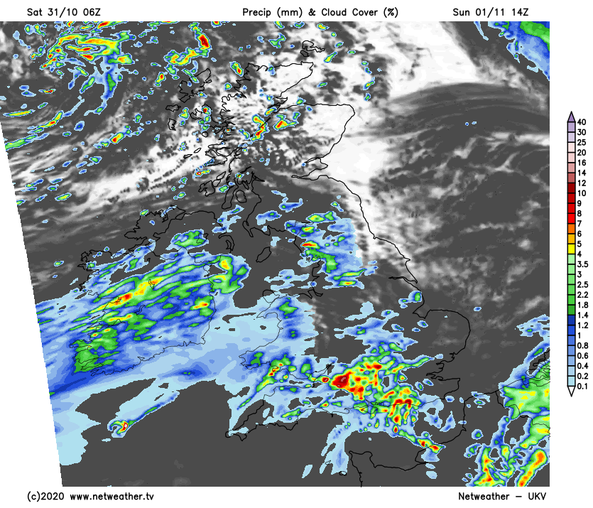 More rain moving up from the southwest on Sunday