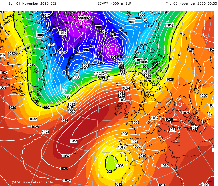 High pressure over the UK from midweek