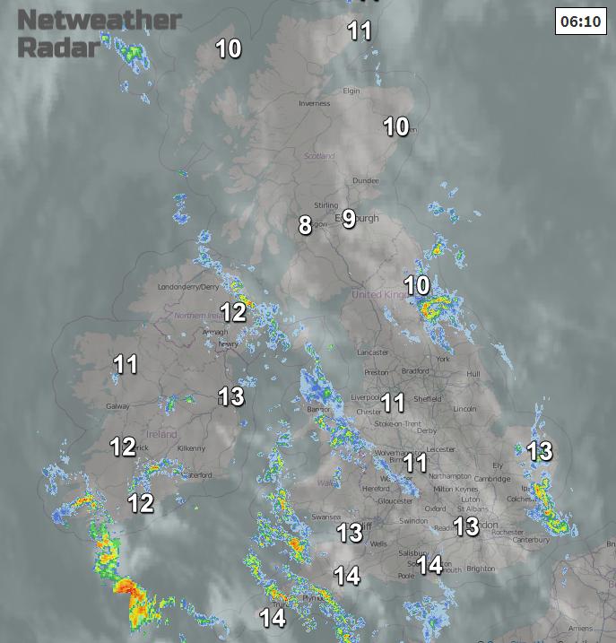 UK rain and temperatures
