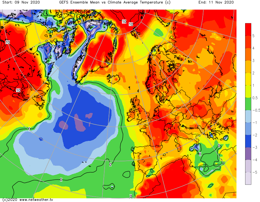 Much warmer than average at the moment in the UK and further afield