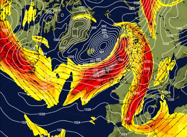 Atlantic driven weather