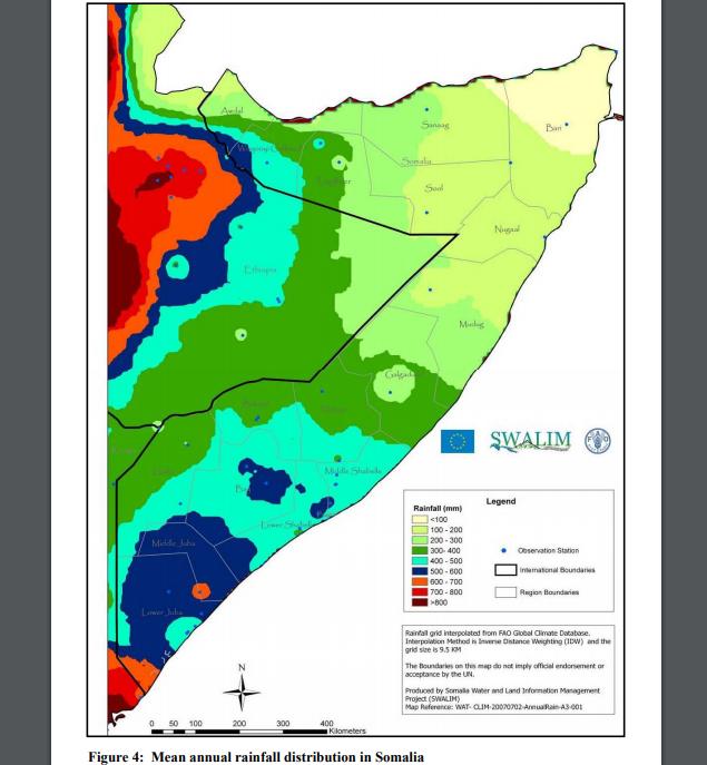 Somalia rainfall
