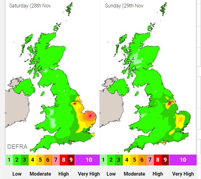 Air pollution Air quality UK