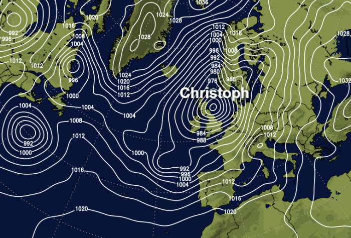 Heavy rain, flooding, gales and snow: Storm Christoph latest