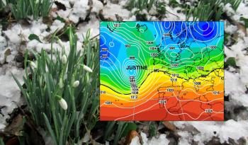 A look at the warnings for rain and possible weekend snow as Storm Justine brushes by