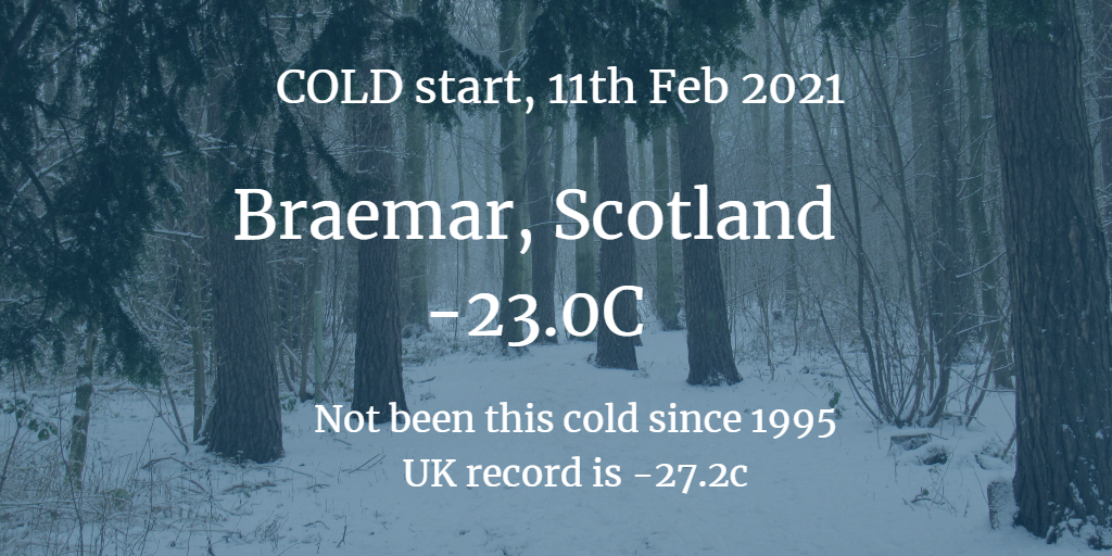 February 2021 cold and snow, down to -23.0C