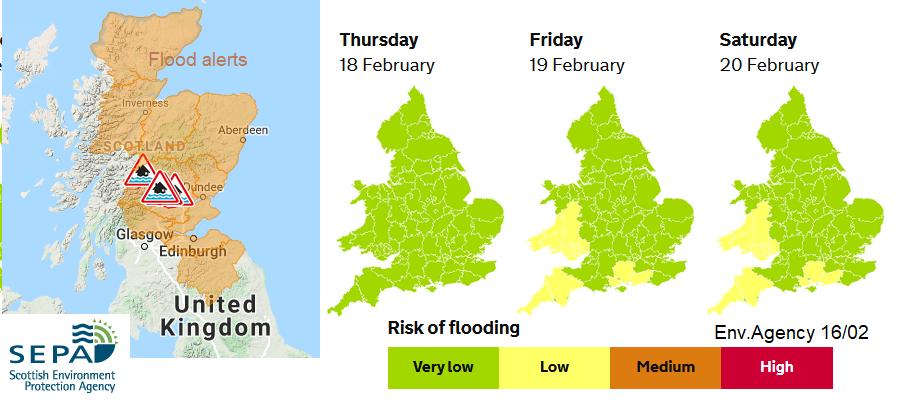 Flood warnings alerts snow melt
