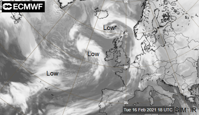 Very mild, but wild in the west. Severe gales and heavy rain