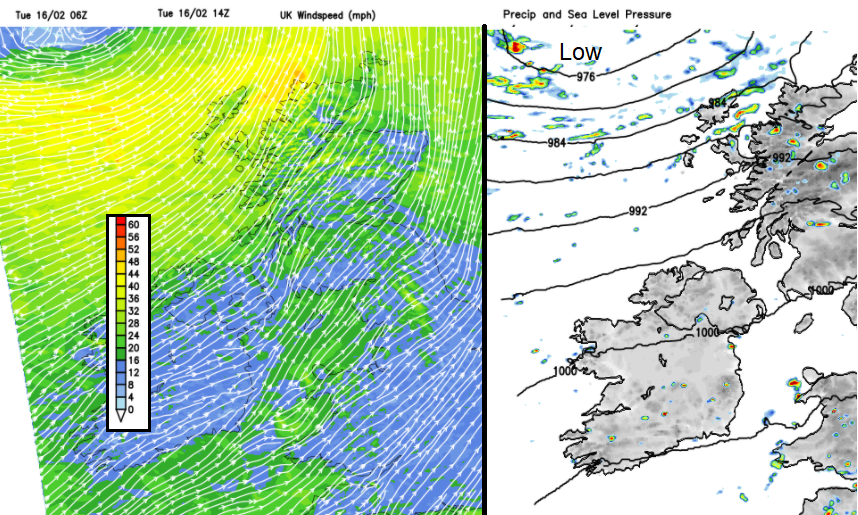 Severe gales strong winds UK Western ISles