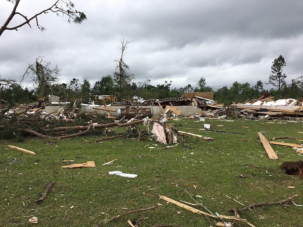 Tornado damage in Carson Mississippi