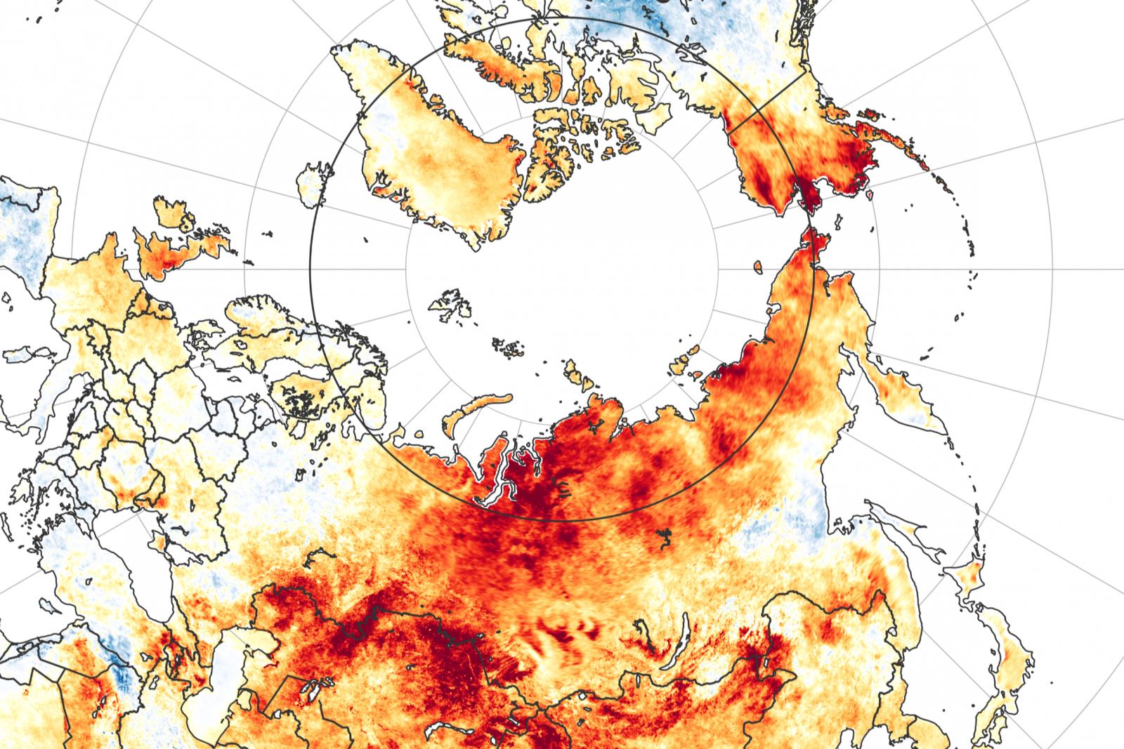 Eurasian Temperature Anomalies