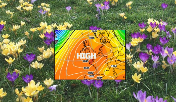 Weekend high pressure brings settled, fair weather to end February