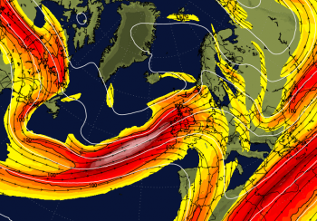 A couple more days then say goodbye to the high pressure as the jet stream powers up
