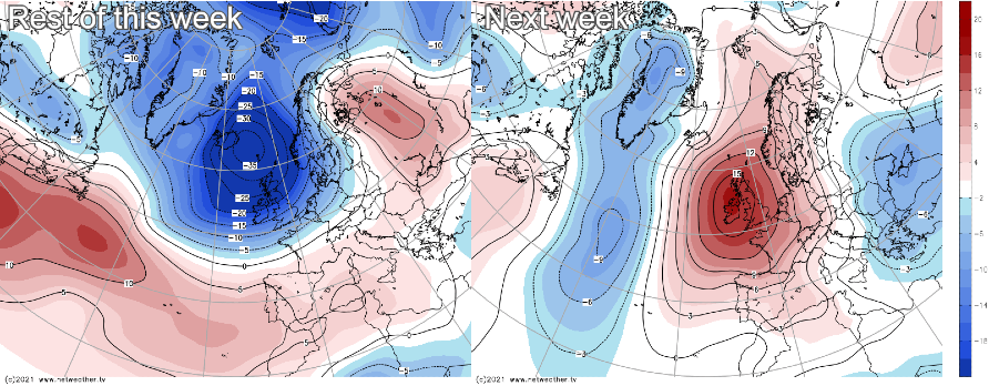 Low pressure for the rest of this week, high pressure returns next week
