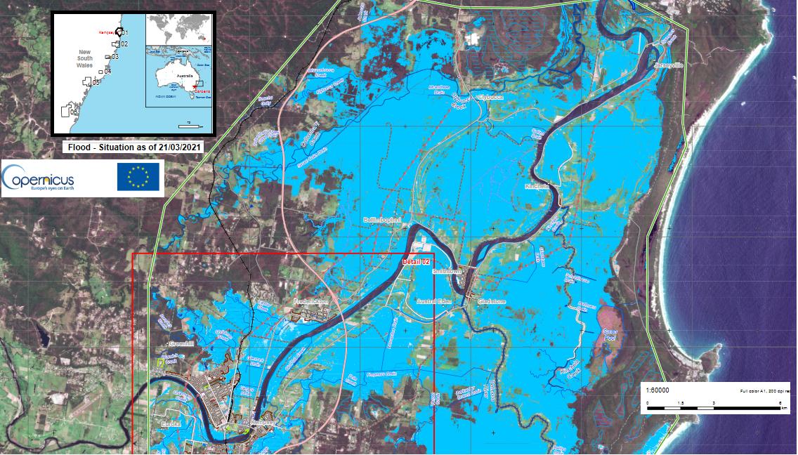 Copernicus flood image NSW