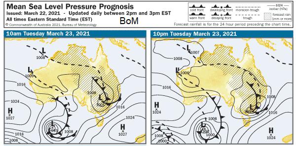 Surface pressure charts Australia