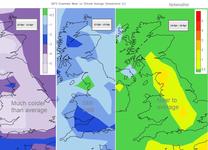 Lockdown easing weather UK temperatures